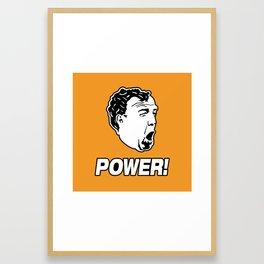 Jeremy Clarkson POWER! Framed Art Print