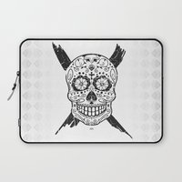 calavera Laptop Sleeves featuring Calavera Skull by x Illegitimate | 010 x