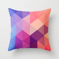 brand new Throw Pillows featuring Brand new day by marcegaral