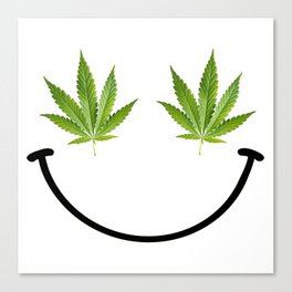 Weed Smile Canvas Print