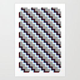 Pixel Grey Art Print