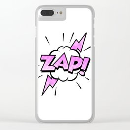Zap Typography! Clear iPhone Case