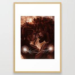 Synchronicity: Kemetic Heart Strings of the Divine Framed Art Print