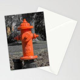 Orange Clow Medallion Fire Hydrant Orange Fire Plug Stationery Cards