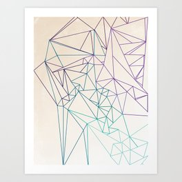 Between the Lines Art Print