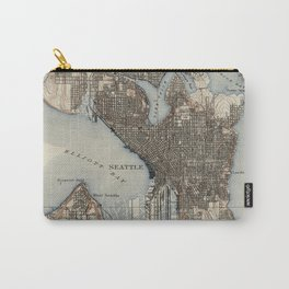 Vintage Map of Seattle Washington (1908) Carry-All Pouch