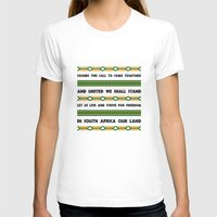 south africa T-shirts featuring South Africa Anthem by Star Icons Rugby