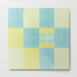 pale blue and yellow  Metal Print