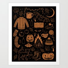 Autumn Nights: Halloween Art Print