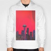 seattle Hoodies featuring Seattle. by Daniel Montero