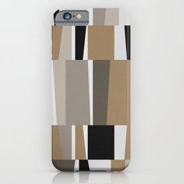 Modern Geometric - Brown, Caramel iPhone Case
