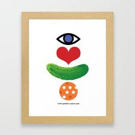 Eye Love Pickleball Rebus #1 Framed Art Print