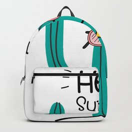 Fun Cactus And Pineapple Backpack