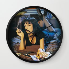 Pulp Fiction Movie Poster, Written And Directed By Quentin Tarantino Artwork, Posters, Prints, Tshir Wall Clock