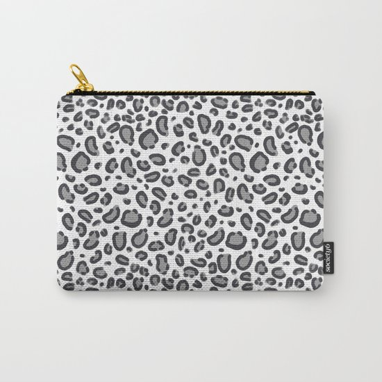 Cheetah pattern animal spots animal print pattern minimal black and white Carry-All Pouch