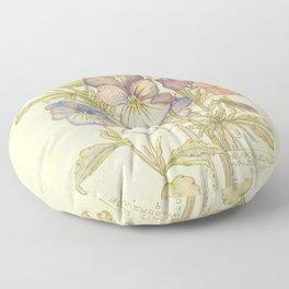 "Charles Rennie Mackintosh ""Flowers & Plants"" (3) Floor Pillow"