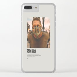 Mad Max Fury Road Minimal Movie Poster No 02 Clear iPhone Case