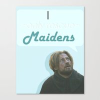 westeros Canvas Prints featuring Maiden by Passion Grows Within