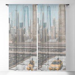 Brooklyn Bridge  Sheer Curtain