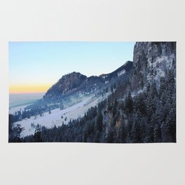 Sunset over the Mountain (Color) Rug