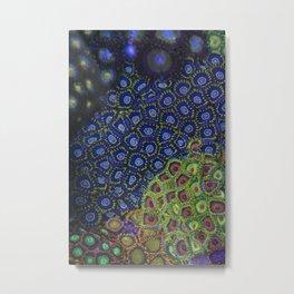 """Macro of Coral Zoanthus """"Blue Hornet"""" Metal Print"""