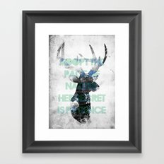 Adopt the pace of nature, her secret is patience Framed Art Print