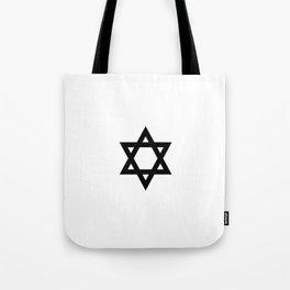 Star of David 6- Jerusalem -יְרוּשָׁלַיִם,israel,hebrew,judaism,jew,david,magen david Tote Bag