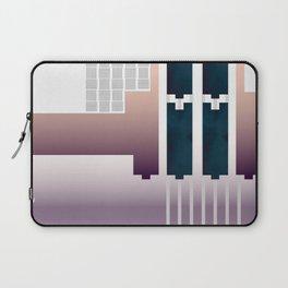 Minimalist Gradient Geometric Interlocking Abstract Structures #buyart #homedecor Laptop Sleeve