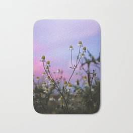 Summer Wildflowers At Sunset Bath Mat