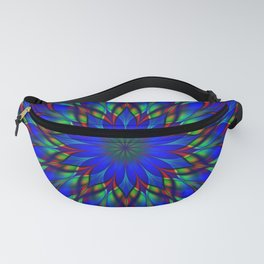Stained glass flower mandala Fanny Pack