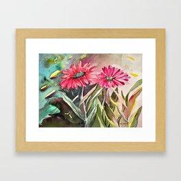 Beautiful Daisies Framed Art Print