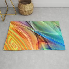 multicolored abstract no. 52 Rug