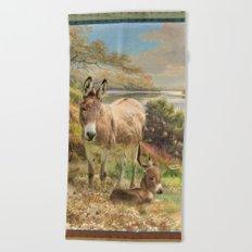 Donkey Love Beach Towel