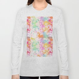 Abstract Paint Splatters Assorted Colors Long Sleeve T-shirt