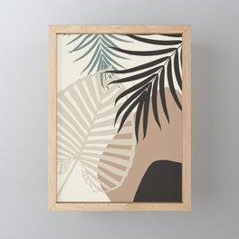Minimal Tropical Palm Leaf Finesse #1 #tropical #decor #art #society6 Framed Mini Art Print