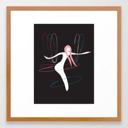 The Hula Hooper Framed Art Print