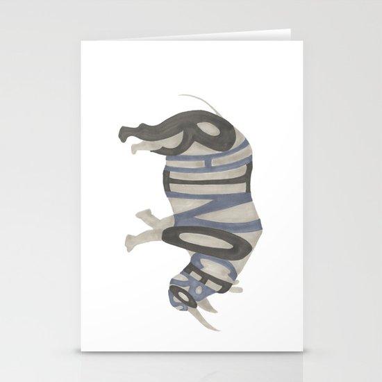 Rhinoceros Typography Stationery Cards