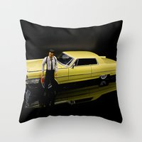 reservoir dogs Throw Pillows featuring Reservoir Dogs 1965 Cadillac Coupe De Ville by Ewan Arnolda