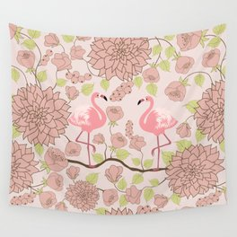 Flamingo Perch Pattern Wall Tapestry