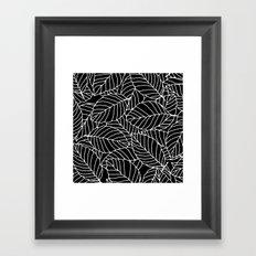 Sweet leafs: Black Framed Art Print