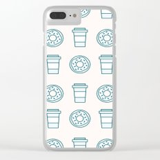 Coffee and Donuts Clear iPhone Case