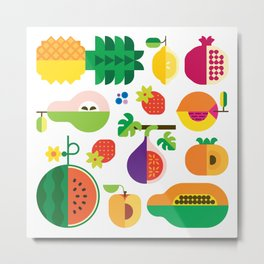 Fruit Medley White Metal Print