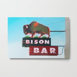 The Bison Bar Metal Print