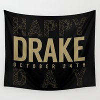 birthday Wall Tapestries featuring Birthday by October's Very Own