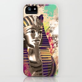 King Tut  Mask Abstract composition iPhone Case