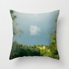 Stormy Skies over Holme Fen Throw Pillow