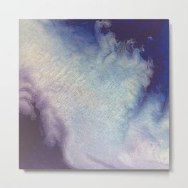 PurpleBlueSilver Metal Print