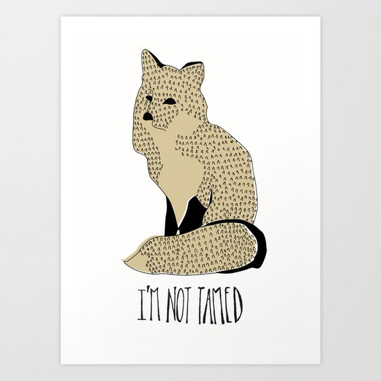 The Little Prince and the Fox Art Print