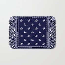 Bandana - Navy Blue - Southwestern Bath Mat