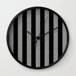 GLITTER STRIPES Wall Clock